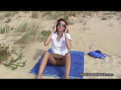 nudist teen flashing at beach